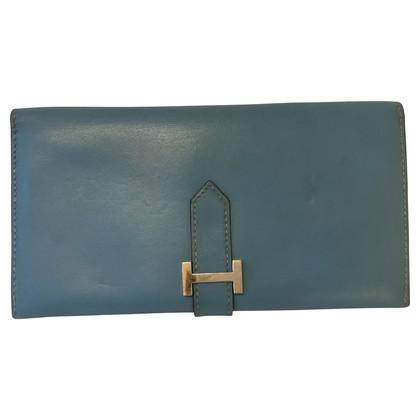 Hermès Portafoglio blu