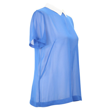 French Connection Transparent blouse in blue