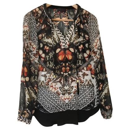 Hale Bob Silk blouse with print