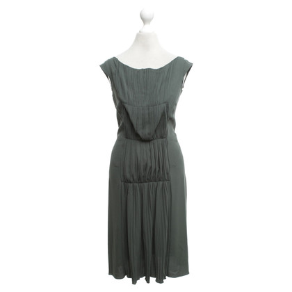 Malo Fir green dress with gathering
