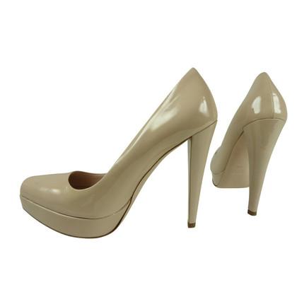 Miu Miu High heels in beige patent leather