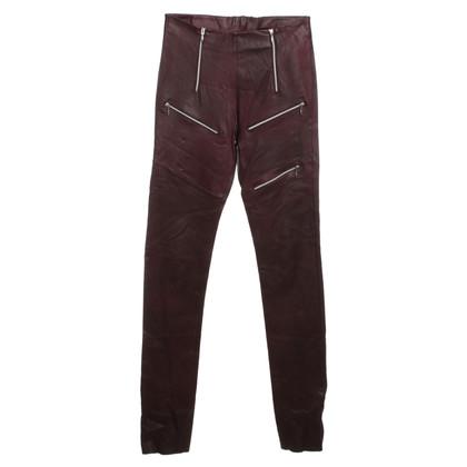 C'est tout Pantaloni in ottica di cuoio