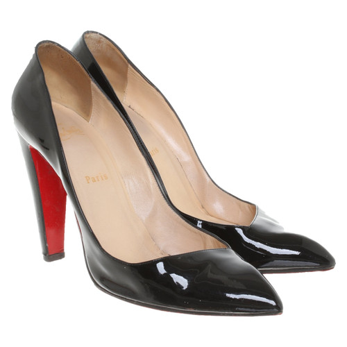 5ac09ffd315 Christian Louboutin Pumps Peeptoes Patent leather in Black - Second ...