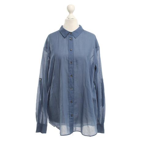Closed Bluse in Hellblau Blau