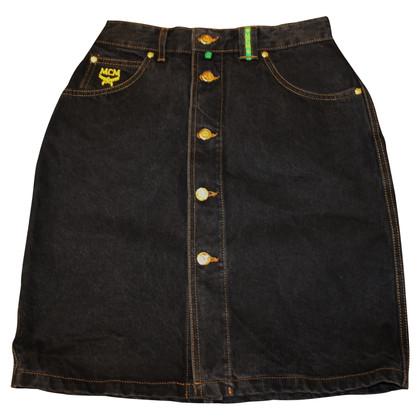 MCM Denim skirt in dark blue