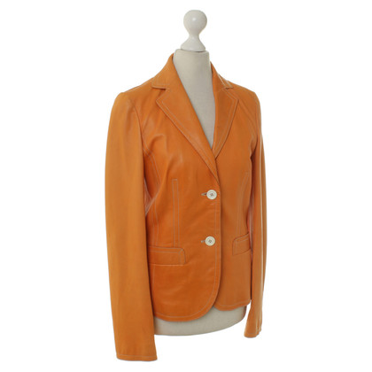 Hugo Boss Lederjacke in Orange