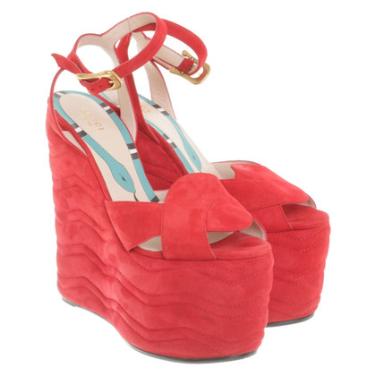 Gucci Wedges suede
