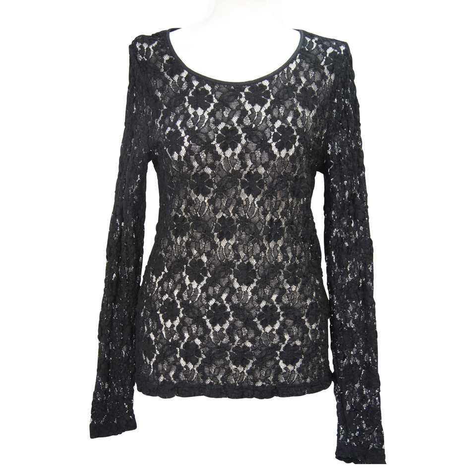 Calvin Klein Top Lace in Black
