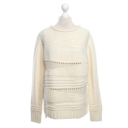 Noa Noa Knitted sweater in cream