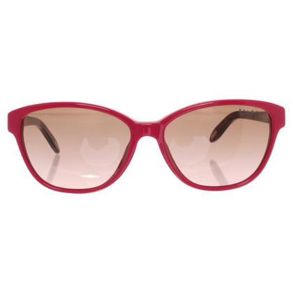 Ralph Lauren Sonnenbrille in Fuchsia/Braun