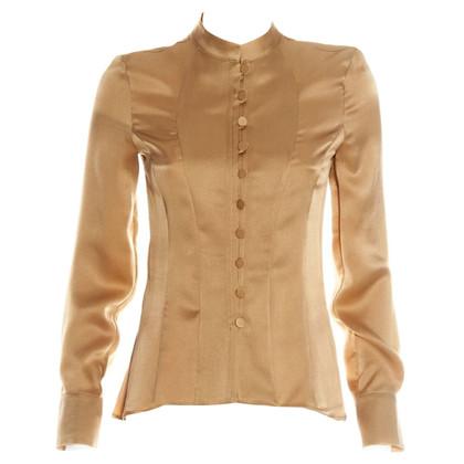 Giorgio Armani Silk blouse in bronze