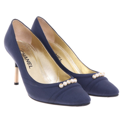 Chanel pumps in blu scuro