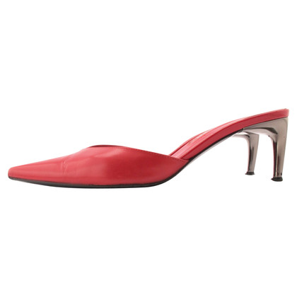 Sergio Rossi sabot in red leather