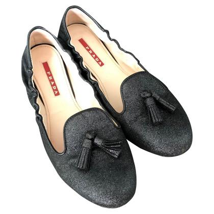 Prada PRADA Loafer / Slipper black metallic