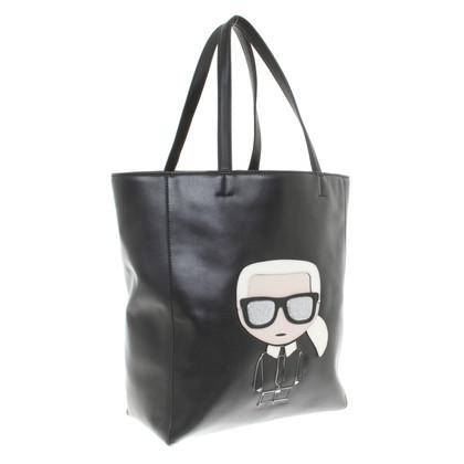 Karl Lagerfeld Shopper met motiefapplicatie