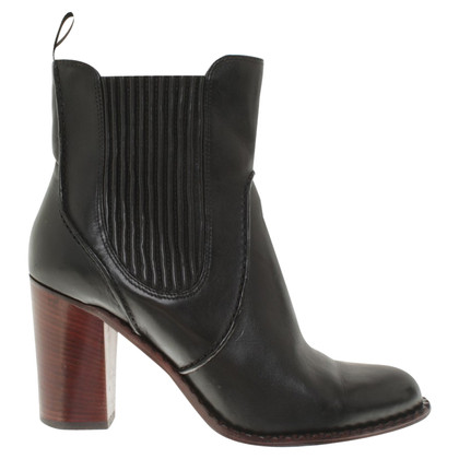 Marc by Marc Jacobs Leather ankle boots in black