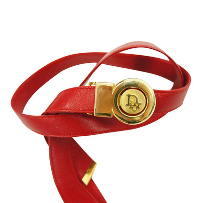 Christian Dior Red leather belt
