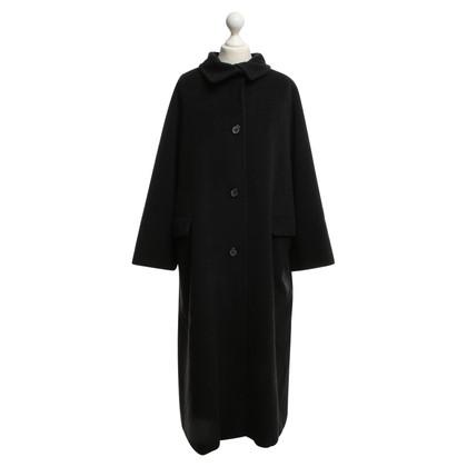 Max Mara cappotto lungo in grigio scuro
