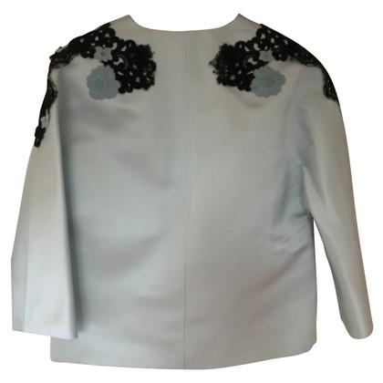 Dolce & Gabbana Blue Silk Embroidered Jacket