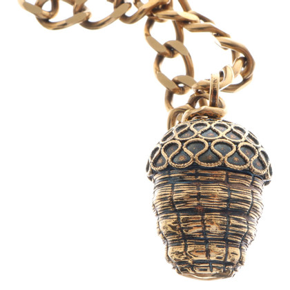 Alexander McQueen Gold colored necklace with pendant