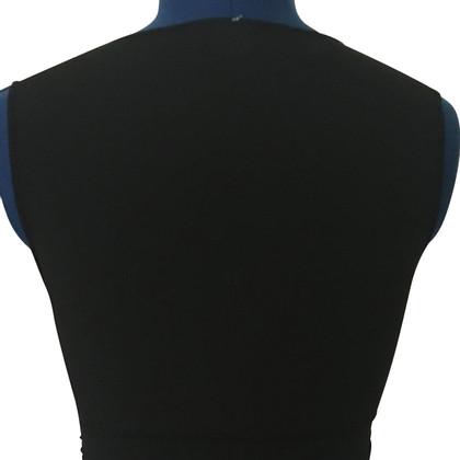 Moschino black, ruffled top