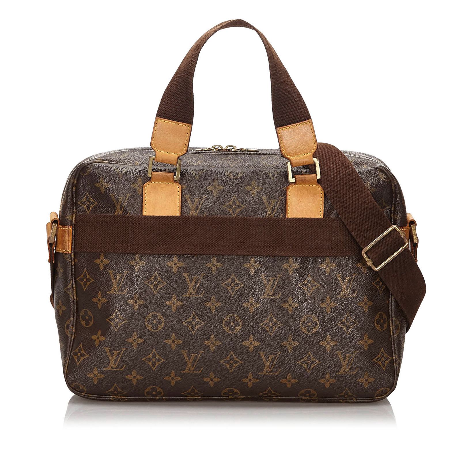 Louis Vuitton Handbag Canvas In Brown