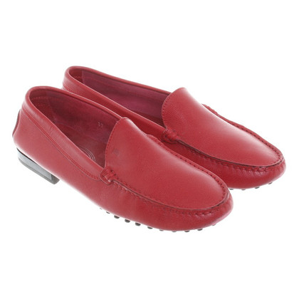 Tod's Pantofola in pelle rossa