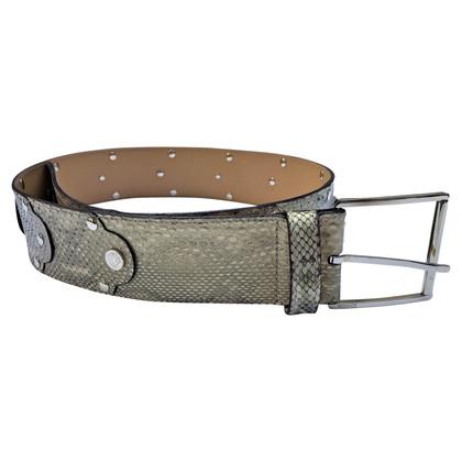 Versace Snakeskin belt