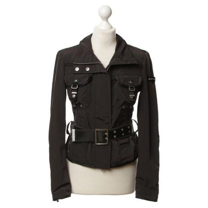 Peuterey Schwarze Jacke mit Taillengurt