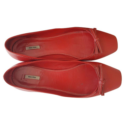 Miu Miu Miu Miu Red Ballerina / Balletto