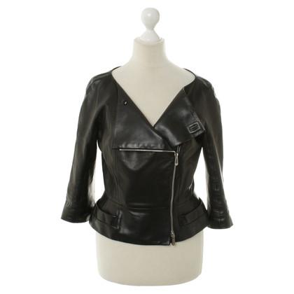 Christian Dior Leren jas in zwart