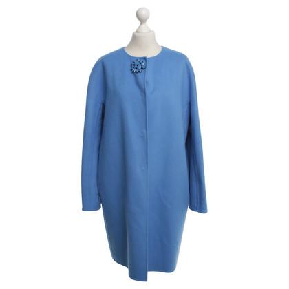 Ermanno Scervino cappotto di lana in azzurro