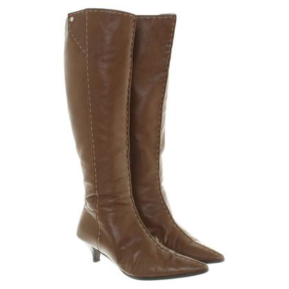 Hermès Stivali in pelle in marrone