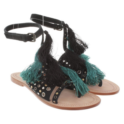 Antik Batik Sandals with studs trim