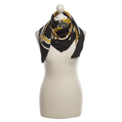 Hermès Sciarpa di seta giallo/nero