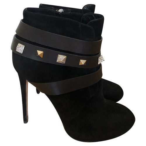 Jeffrey Campbell Stivali in Pelle in Nero Second hand