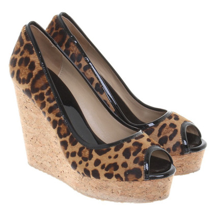 Jimmy Choo Wedges met animal print