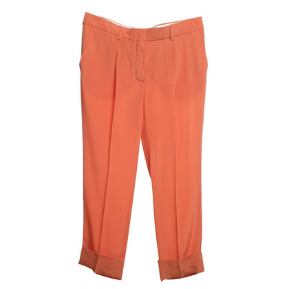 Chloé Silk trousers in orange