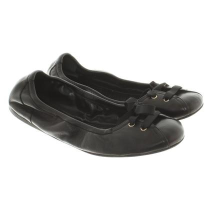 Bally Ballerinas in black