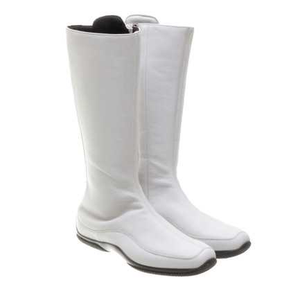 Hogan White leather boots