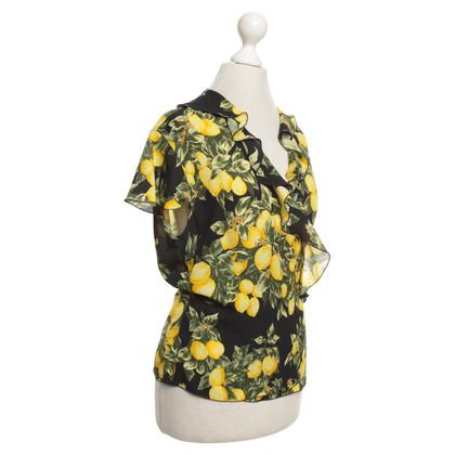 Escada Silk blouse with lemon print