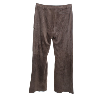 Marc Cain Suede broek in Taupe