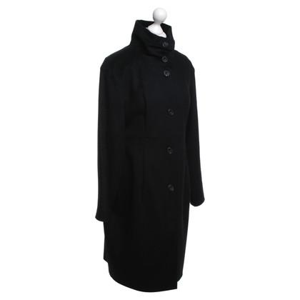 René Lezard Wool coat with stand-up collar