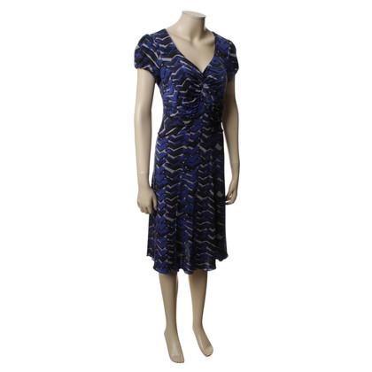Armani Collezioni Dunkelblaues Kleid mit Muster