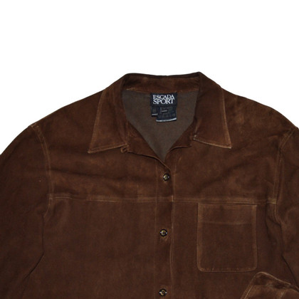 Escada Brown leather blouse