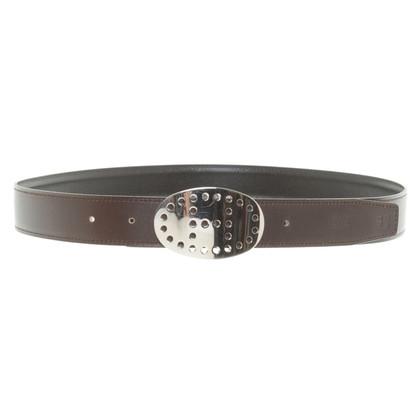 Hermès Wendegürtel mit Metallschließe