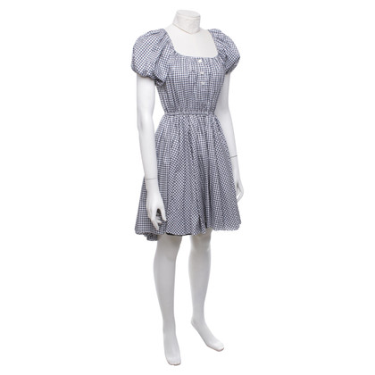 Caroline Constas Dress with checked pattern