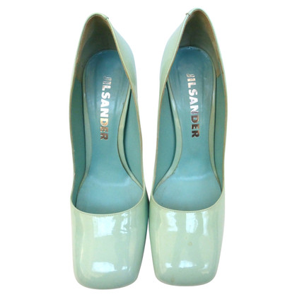 Jil Sander Pumps mit Blockabsatz