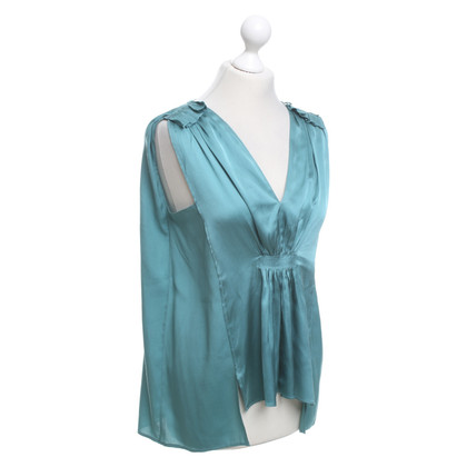 Schumacher Silk top in turquoise