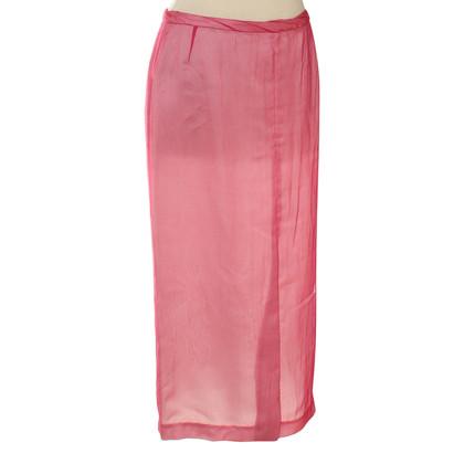 Dries van Noten Silk skirt in pink